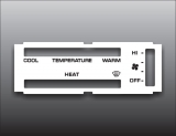 1981-1989 Dodge Ram White Heater Control Overlay HVAC