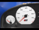 1992-1994 Audi S4 White Face Gauges