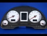 2002-2004 Audi A4 White Face Gauges