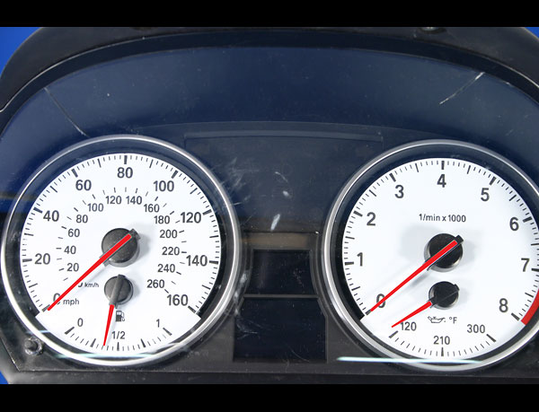 2007-2008 E90 E92 335i BMW 3 Series White Face Gauges - Whitegauges net