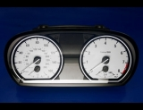 2008-2009 BMW 135i White Face Gauges