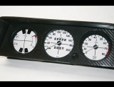 1973-1976 BMW 2002 METRIC KMH White Face Gauges 73-76 KM/H