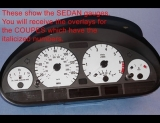 2000-2006 BMW 3 Series Coupe White Face Gauges E46