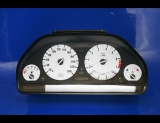 1989-1995 BMW E34 METRIC 5 Series White Face Gauges KMH KPH