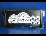 1999-2000 Cadillac Escalade 120 Mph White Face Gauges