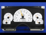 1994 Chevrolet S10 S15 White Face Gauges