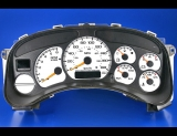 1999-2002 Chevrolet Silverado Gas METRIC KPH KMH White Face Gauges