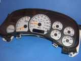 1999-2002 GMC Sierra 1500 2500 3500 Truck White Face Gauges