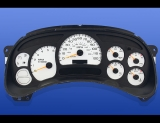 2003-2007 GMC Sierrra GAS 1500 2500 3500 White Face Gauges