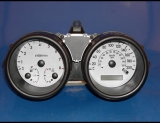 2004-2008 Chevrolet Aveo KMH METRIC White Face Gauges