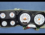 1973-1979 Chevrolet Truck Tach With Fuel White Face Gauges
