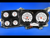 1980-1991 Chevrolet GMC Suburban White Face Gauges