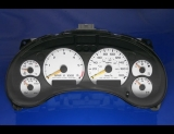 1998-2005 Chevrolet Blazer 180 Kmh METRIC KPH White Face Gauges