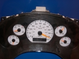 1998-2004 Chevrolet S10 NON TACH AUTO White Face Gauges