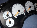 2000-2005 GMC S10 Jimmy TACH MANUAL White Face Gauges