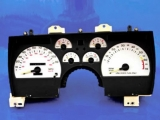 1990-1992 Chevrolet Camaro 110 MPH White Face Gauges