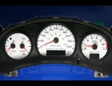 2000-2005 Chevrolet Impala METRIC KPH KMH White Face Gauges