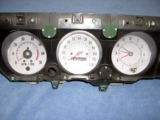 1970-1972 Chevrolet Monte Carlo El Camino SS White Face Gauges