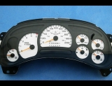 2003-2005 GMC Sierra 2500HD Duramax METRIC KMH KPH White Face Gauges