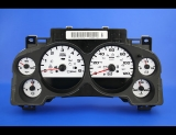 2007-2014 Chevrolet Silverado White Face Gauges