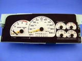 1997-1999 Chevrolet GMC Suburban White Face Gauges