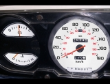 1981-1989 Dodge Ram 180 KMH METRIC KPH White Face Gauges