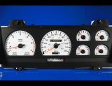 1989-1993 Dodge Dakota Tach White Face Gauges