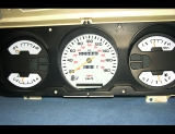 1990-1993 Dodge Ram METRIC KPH KMH White Face Gauges