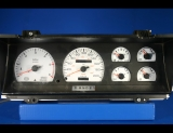 1992-1993 Dodge Dakota METRIC KPH KMH White Face Gauges