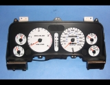 1994-1997 Dodge Ram 200 METRIC KPH KMH White Face Gauges