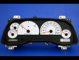 1997-2000 Dodge Dakota Non-Tach METRIC KPH KMH White Face Gauges