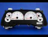 1998-2000 Dodge Durango METRIC KPH KMH White Face Gauges