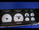 1987-1988 Dodge Dakota White Face Gauges