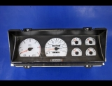 1994-1996 Dodge Dakota METRIC KPH KMH White Face Gauges