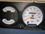 1990-1993 Dodge Ram White Face Gauges