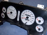 1994-1997 Dodge Ram GAS White Face Gauges