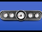 1966 Ford Mustang METRIC KPH KMH White Face Gauges
