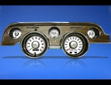 1967-1968 Ford Mustang METRIC KPH KMH White Face Gauges