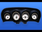 1969-1970 Ford Mustang METRIC KPH KMH White Face Gauges