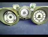1971-1973 Ford Mustang METRIC KPH KMH White Face Gauges