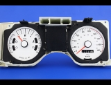 1978-1980 Ford Fairmont 180 KMH METRIC KPH White Face Gauges