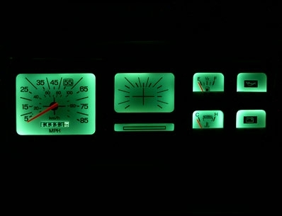 1980 1986 ford truck non tach white face gauges 1980 ford bronco dashboard Full Size Bronco Interior