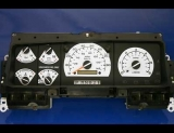 1992-1996 Ford Truck White Face Gauges