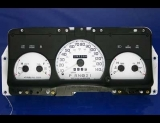 1995-1997 Ford Crown Victoria P71 White Face Gauges 140