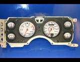 1983-1986 Ford Mustang METRIC KPH KMH White Face Gauges