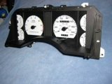 1987-1989 Ford Mustang 200 KMH METRIC White Face Gauges