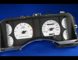 1990-1993 Ford Mustang 220 Kmh METRIC KPH KMH White Face Gauges