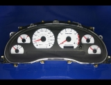 1999-2004 Ford Mustang METRIC KMH KPH White Face Gauges