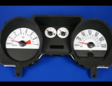 2005-2007 Ford Mustang 120 mph V6 White Face Gauges