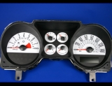 2005-2007 Ford Mustang 140 mph V8 White Face Gauges